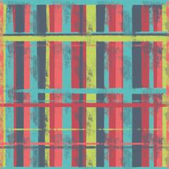 painted distressed grunge plaid seamless pattern