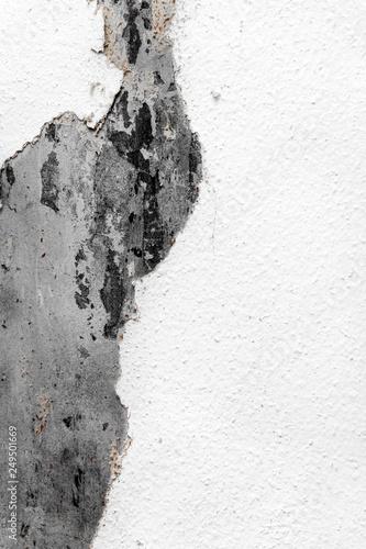 Abgerissene Tapete Mit Darunter Liegender Rohen Wand Alter Putz