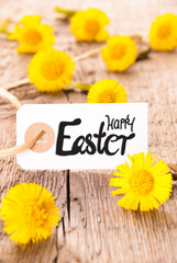 White Label, Dandelion, English Calligraphy Happy Easter