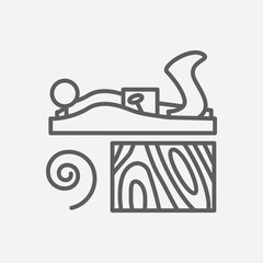 Jack plane icon line symbol. Isolated vector illustration of  icon sign concept for your web site mobile app logo UI design.