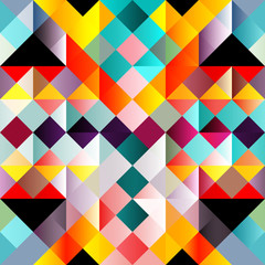 psychedelic colorful geometric seamless pattern