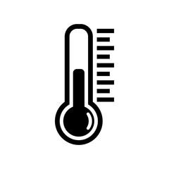 Obraz Thermometer icon or temperature symbol, vector and illustration - fototapety do salonu