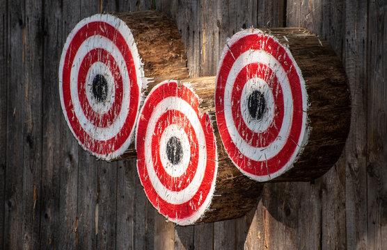 Round wooden targets