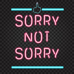 Garden Poster Retro sign sorry not sorry neon lights sign