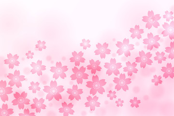 Cherry Blossom, Pink Background, Spring Image,