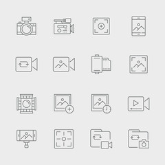 Photography And Videography Icon Set