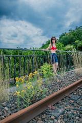 Promenade sur la voie ferré