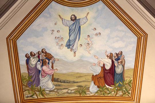 L'Ascension de Jésus-Christ. Eglise Saint-André. Dommancy. / Ascension of Christ. St. Andrew's Church. Domancy.