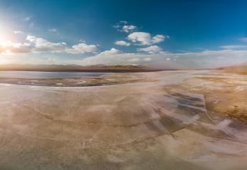 View from Desert Lake near Mount Erciyes in Kayseri Turkey