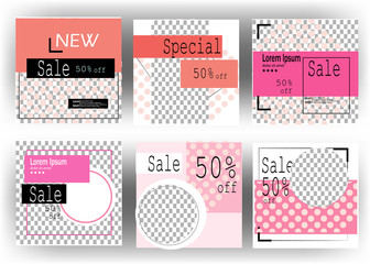 Editable Post Template Social Media Banners for Digital Marketing vector