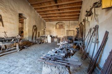 blacksmith's workshop in Sicily
