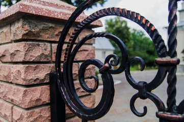 Elements of forged decorative forged fencing