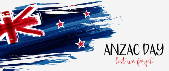 New Zealand Anzac day abnner