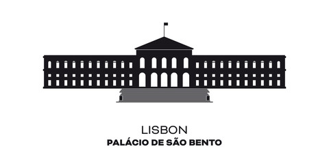 Assembly of the Nation building, Sao Bento Palace at Lisbon, Portugal