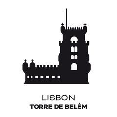 Belem Tower at Lisbon vector silhouette