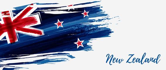 New Zealand grunge flag banner