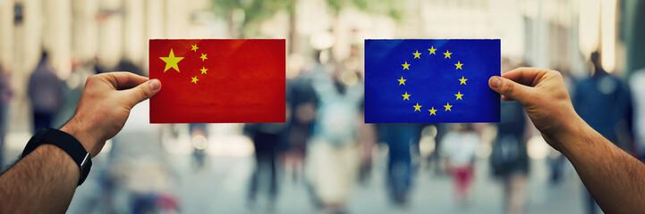 china vs eu Fototapete