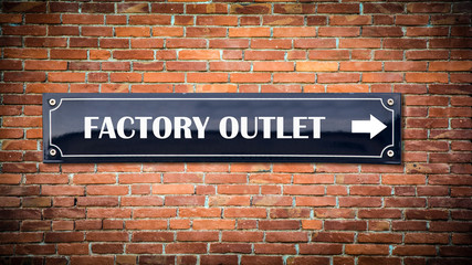 Sign 404 - FACTORY OUTLET