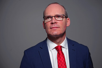 Ireland's Minister for Foreign Affairs Simon Coveney poses for a photograph in Dublin