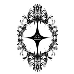Tattoo designs. Abstract pattern. Astrological sign Libra