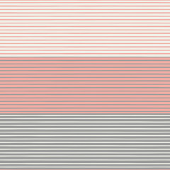 Vibrant densely striped design in coral, pastel browns and cream white colours. Seamless vector pattern in fresh modern neutrals. Perfect for stationery, textiles, home decor, giftwrapping, packaging