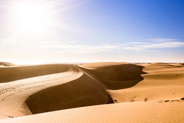 Gran Canaria dunes - Maspalomas sand desert landscape. Spain