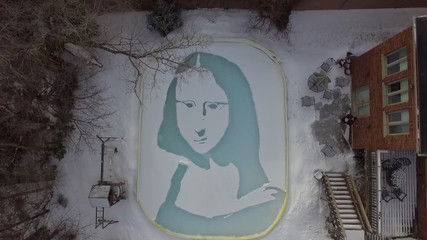 Snowna Lisa creation resembling da Vinci painting is seen in Toronto