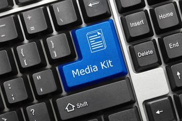 Conceptual keyboard - Media Kit (blue key)