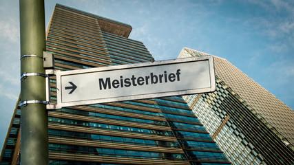 Schild 358 - Meisterbrief