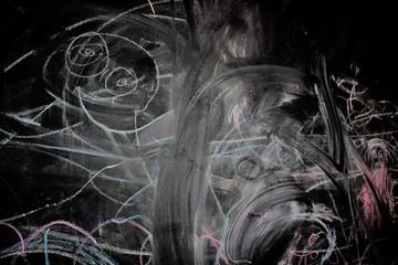 The blackboard is written in chalk. Divorce chalk on a blackboard.