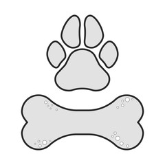 Dog bone icon. Simple cartoon dog bone vector icon. Vector illustration.