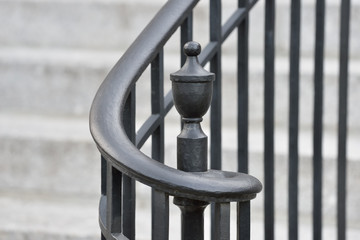 Wrought Iron Handrail and Finial Fototapete