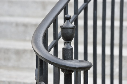Wrought Iron Handrail and Finial