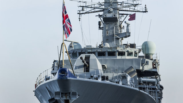 WARSHIP - Frigate at the port wharf