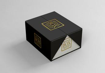 Folding Cardboard Box Mockup