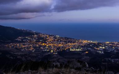 Night landscape of Yalta