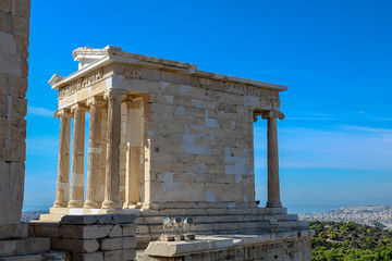 Temple of Nike in the sun, Acropolis of Athens, Greece