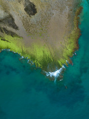Indonesia, West Sumbawa, Maluk beach, Aerial view of Super Suck surf point
