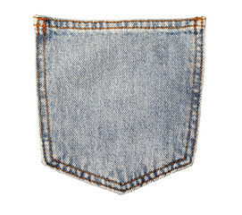 jeans pocket on white