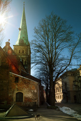 riga, church in the old town