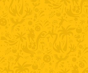 Seamless sports yellow  pattern, abstract football vector background. Seamless Pattern included in swatch