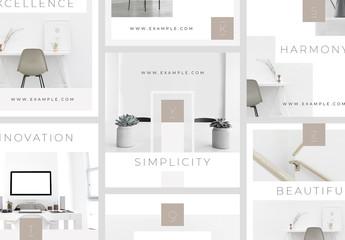Social Media Marketing Collage Layouts Set