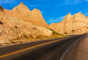 Badlands Loop Highway thru Badlands National Park, South Dakota
