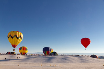 Balloons at White Sands National Monument, New Mexico, USA
