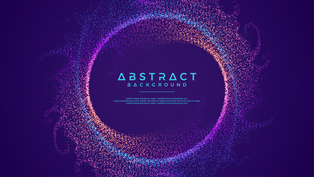 Dynamic abstract liquid flow particles background. Shining abstract particle flow background. Futuristic background with dots combination. Eps10 Vector background.