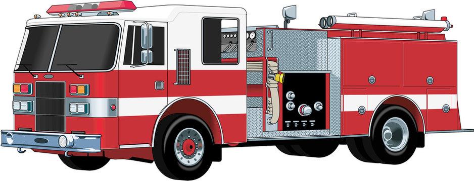 Fire Engine Vector Illustration