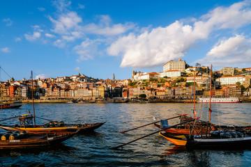 boats in the harbor porto portugal