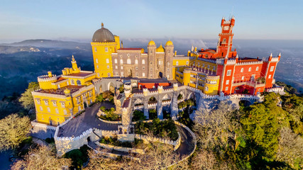 Vista do Palácio da Pena em Sintra Portugal Wall mural