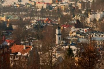 KRYNICA-ZDROI. POLAND. : Center of culture in Krynica-Zdroj. Lesser Poland Voivodeship. Poland