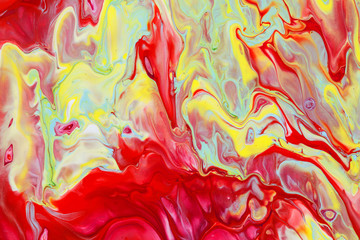 Abstract picture of red paints